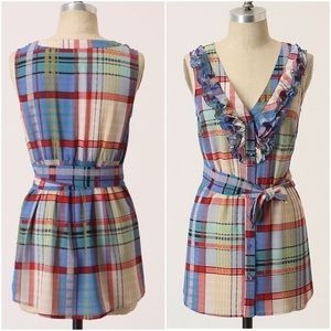 Fei plaid belted tunic